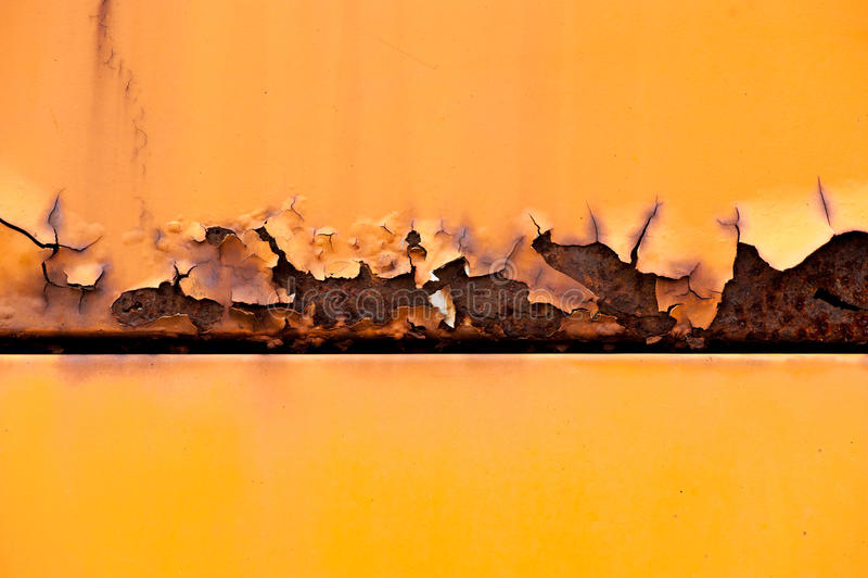 Kolorowy ośniedziały metalu panel zdjęcia stock
