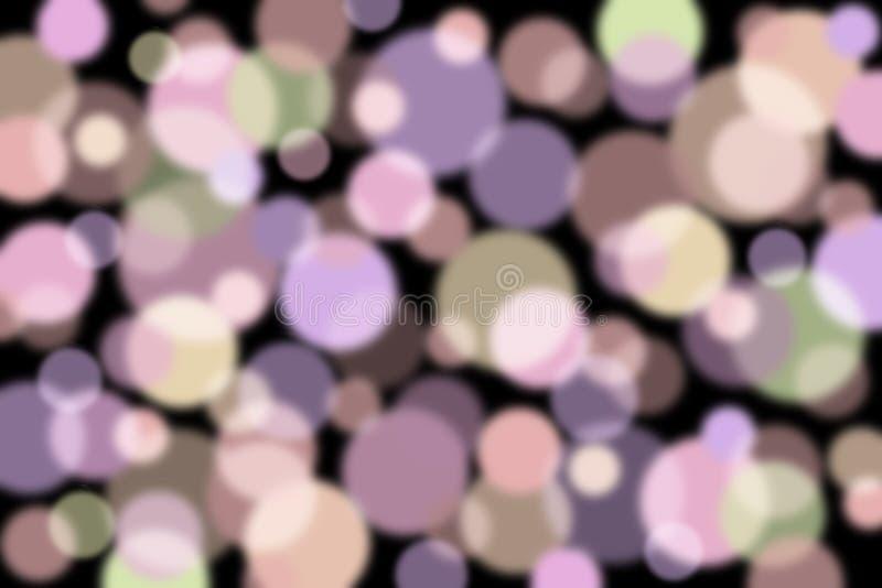 Kolorowy okręgu wzór na czarnym tle fotografia stock