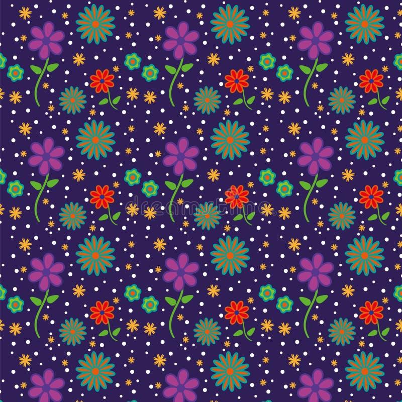 Kolorowy pada kwiatu wzór fotografia stock