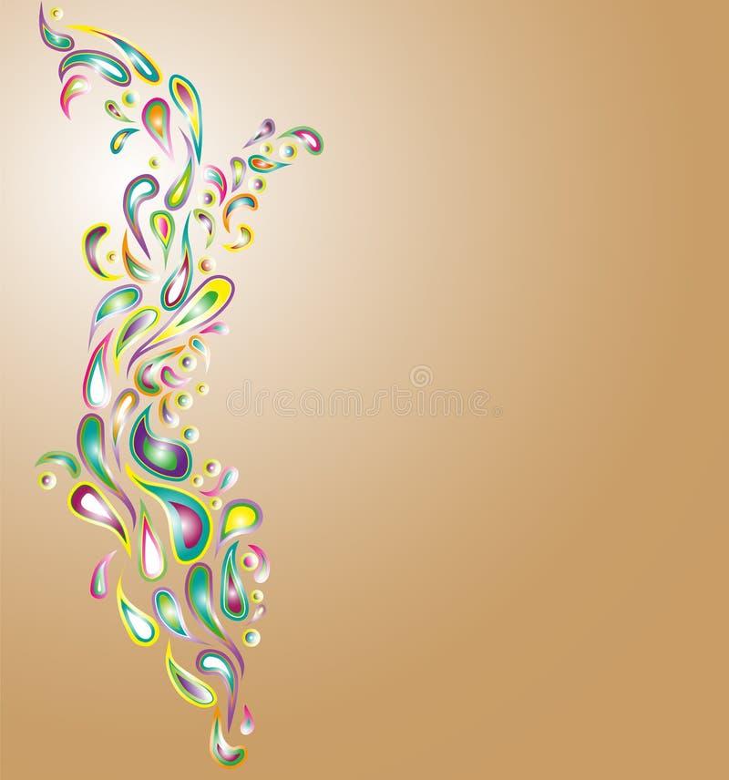 Kolorowy pada kwiatu wzór obraz stock