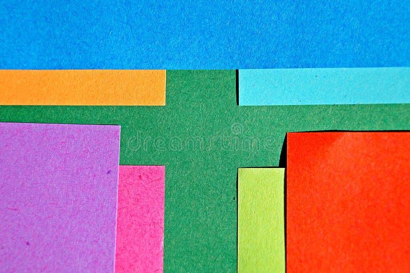 Kolorowy papierowy pomysłowo i abstrakcjonistyczny tło zdjęcia royalty free