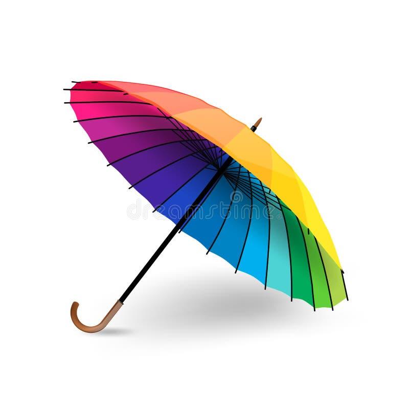 Kolorowy parasol royalty ilustracja