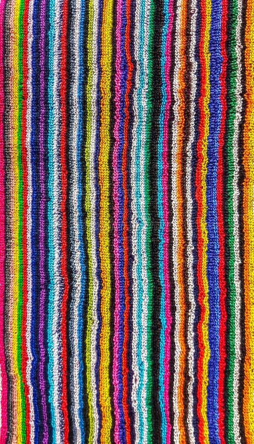 Kolorowy pasiasty plażowy ręcznik zdjęcia royalty free