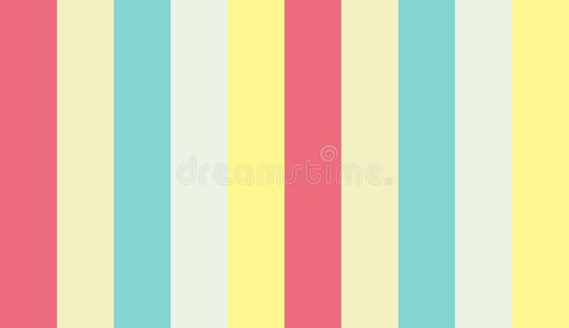 Kolorowy pasiasty tło z coloured liniami, royalty ilustracja