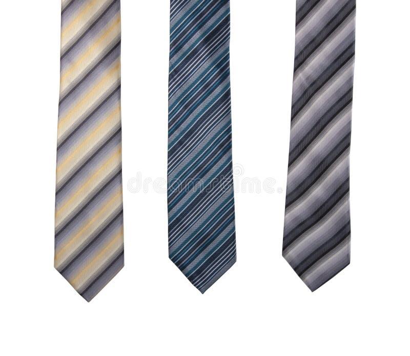 Kolorowy, paskowany krawat dżentelmenów, wyizolowany na białym zdjęcia royalty free