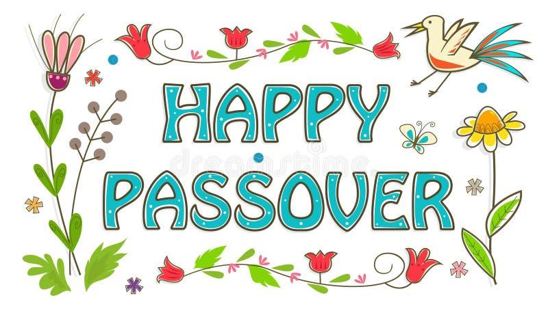 Kolorowy Passover znak ilustracja wektor