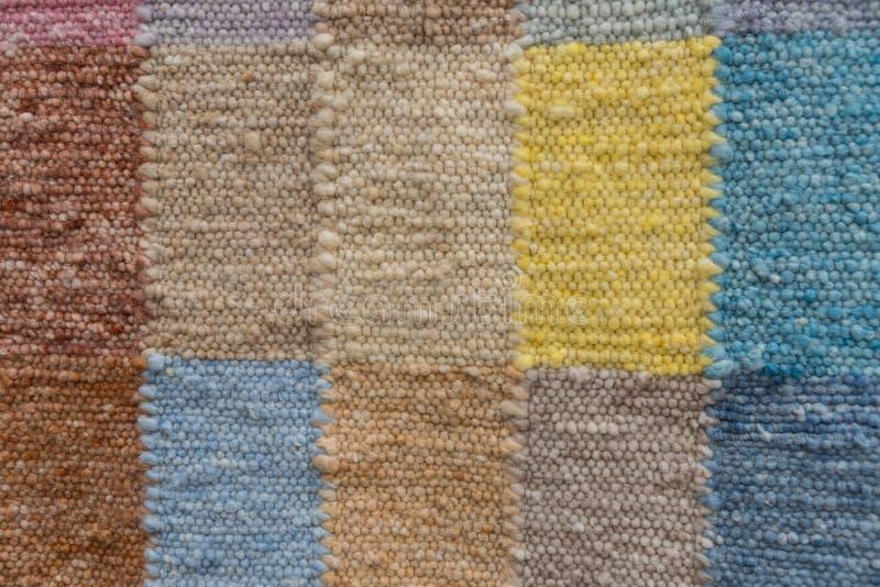 Kolorowy patchworku dywanik - szczegół makata obraz stock