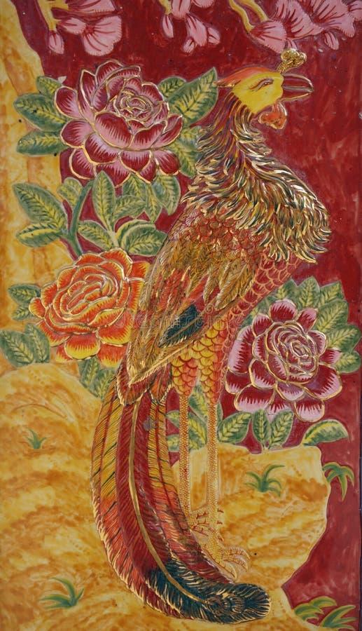 Download Kolorowy pawi stiuk zdjęcie stock. Obraz złożonej z azjata - 53778892