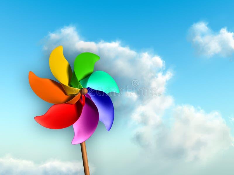 kolorowy pinwheel royalty ilustracja