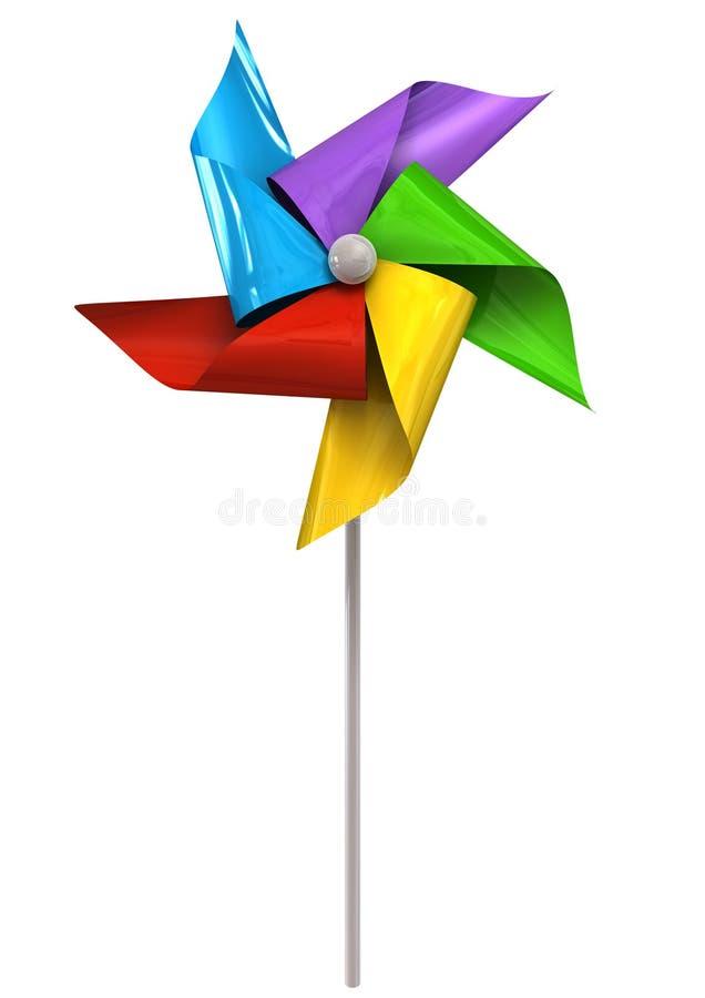 Kolorowy Pinwheel przód ilustracji