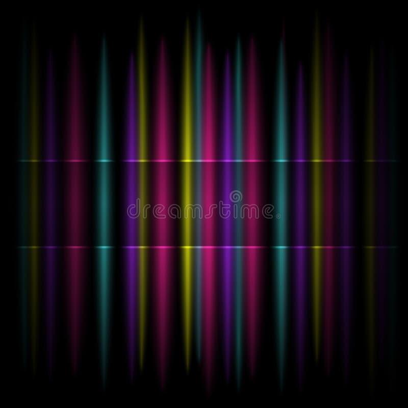 Kolorowy Pionowo Pasiasty Deseniowy Tło ilustracji