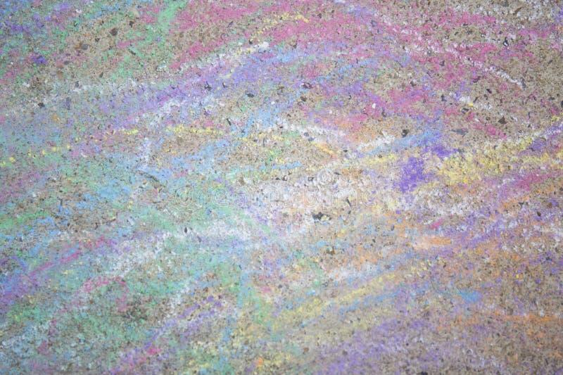 Kolorowy pisze kredą na ulicie fotografia royalty free