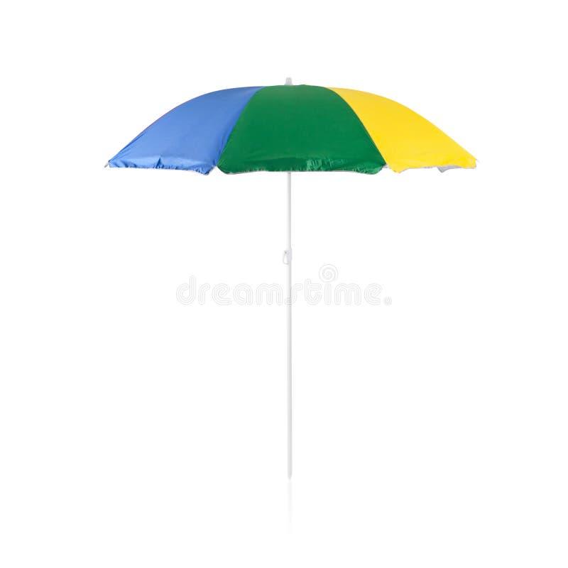 Kolorowy plażowy sunshade zdjęcia stock