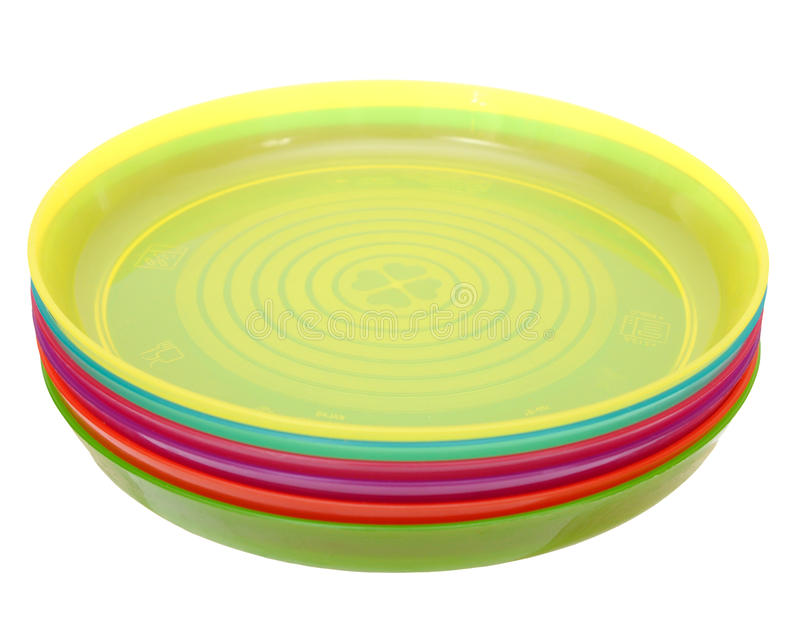 Kolorowy plastikowy naczynie fotografia royalty free