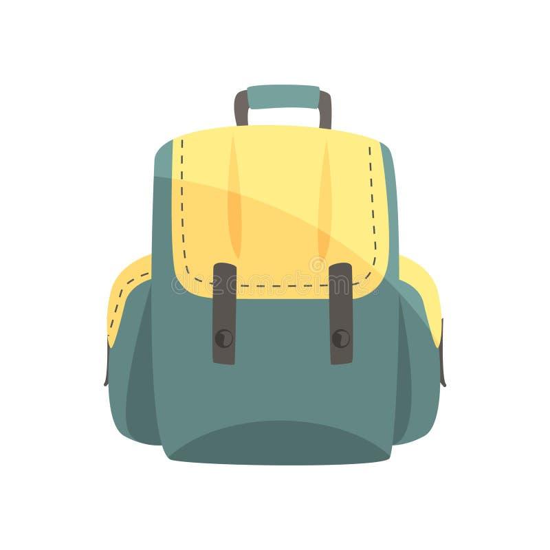 Kolorowy plecak, klasyk projektował plecaka wektoru ilustrację royalty ilustracja
