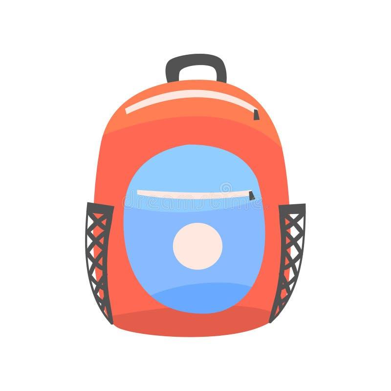 Kolorowy plecak, plecak dla szkoły lub podróż wektoru ilustracja, ilustracji