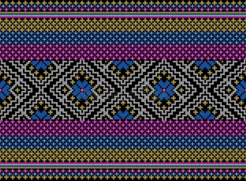 Kolorowy plemienny i aztek bezszwowy wzór zdjęcia royalty free