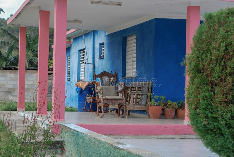 Kolorowy Plenerowy patio w Kuba zdjęcia royalty free