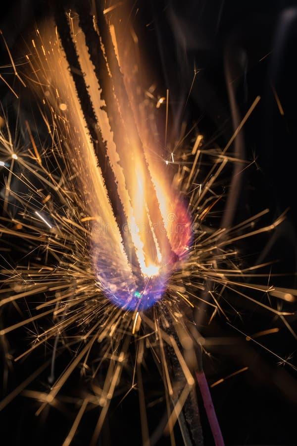 Kolorowy pożarniczy zbliżenie zdjęcie stock