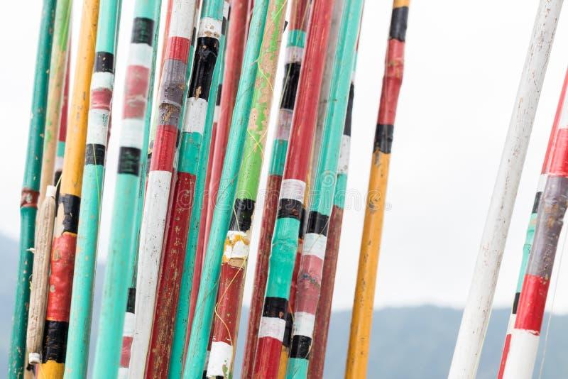 Kolorowy połowów prąć zakończenie kolorowe tło Tropikalna wyspa Bali, Indonezja obrazy stock