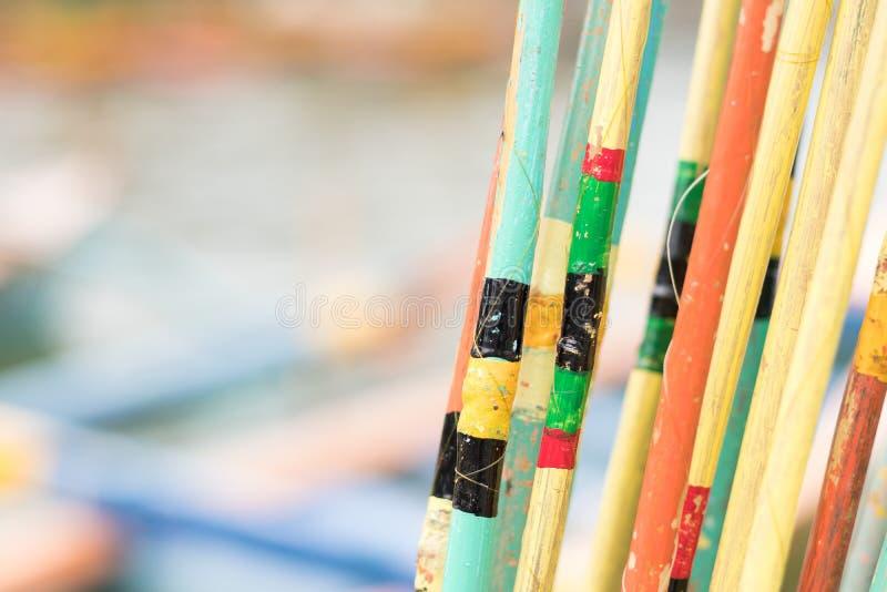 Kolorowy połowów prąć zakończenie kolorowe tło Tropikalna wyspa Bali, Indonezja obrazy royalty free
