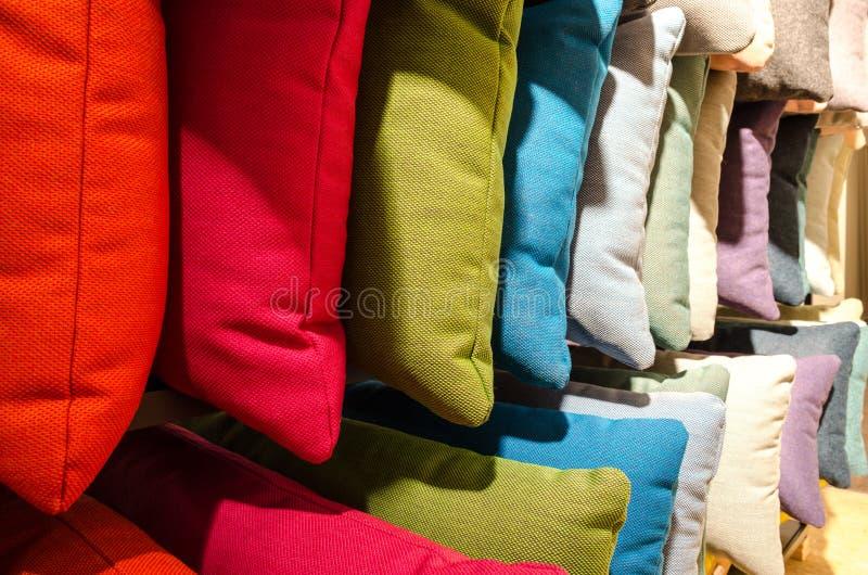 Kolorowy poduszki zbliżenie fotografia royalty free