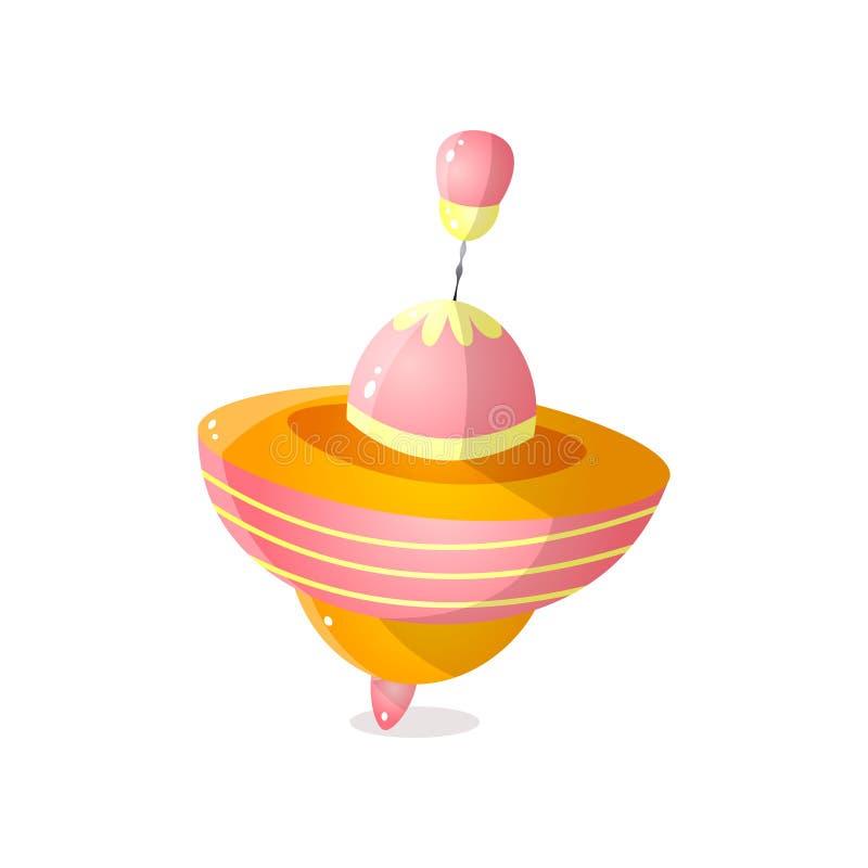 Kolorowy pomarańczowy whirligig dla śmiesznego dzieciak sztuki czasu ilustracja wektor