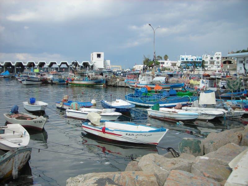 Kolorowy port Kelibia, Tunezja zdjęcia royalty free