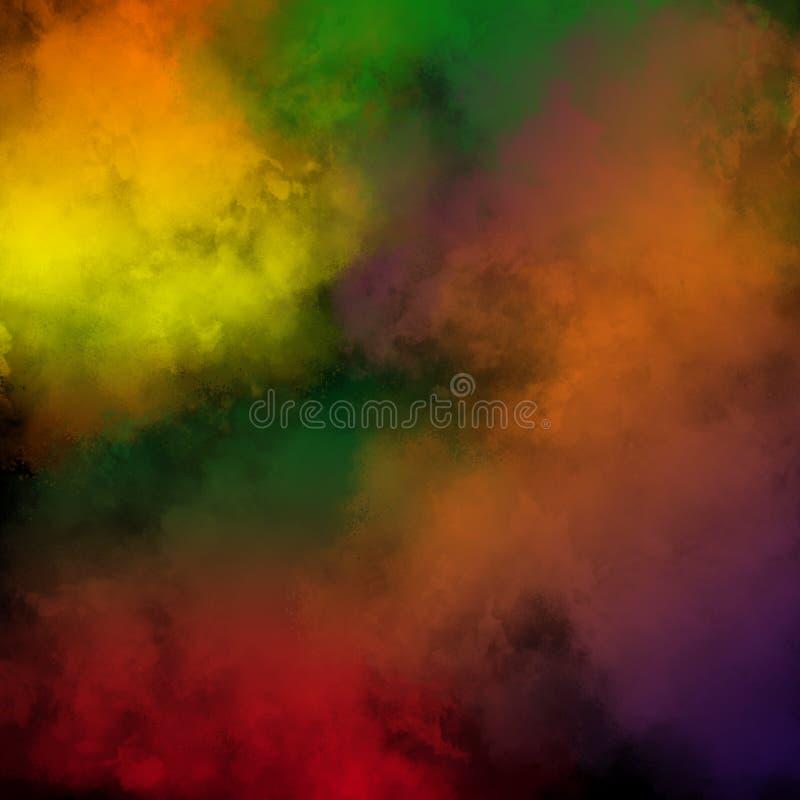 Kolorowy Prochowy tło, Kolorowe chmury obraz royalty free