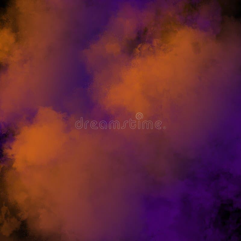 Kolorowy Prochowy tło, Kolorowe chmury zdjęcie stock