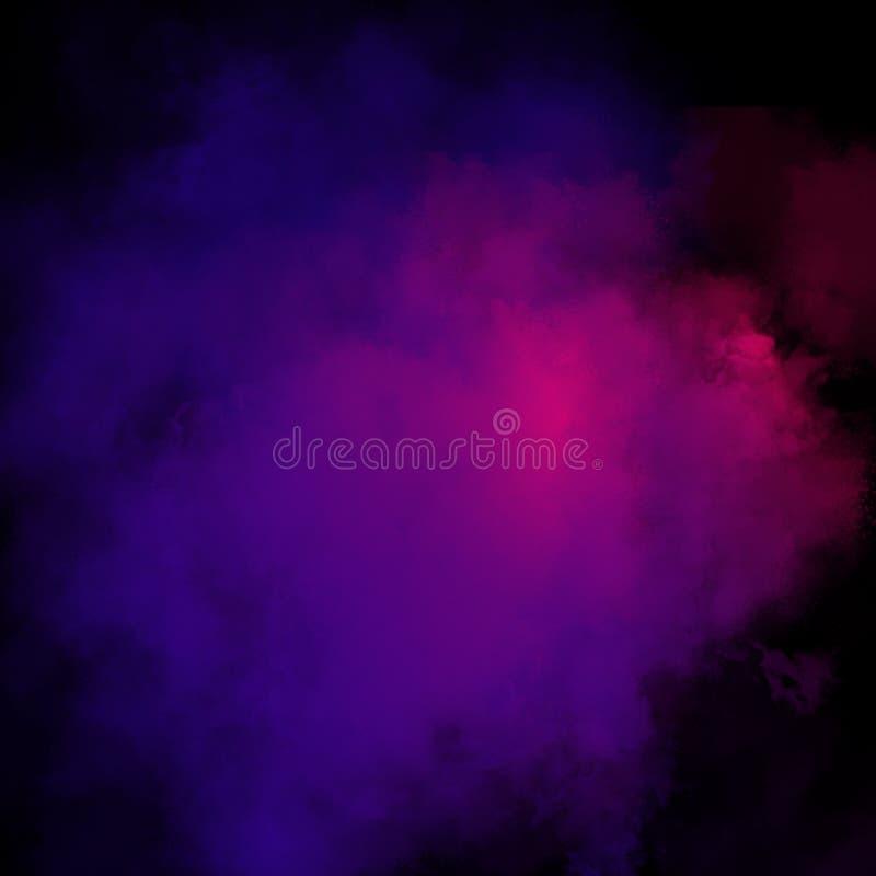 Kolorowy Prochowy tło, Kolorowe chmury obraz stock