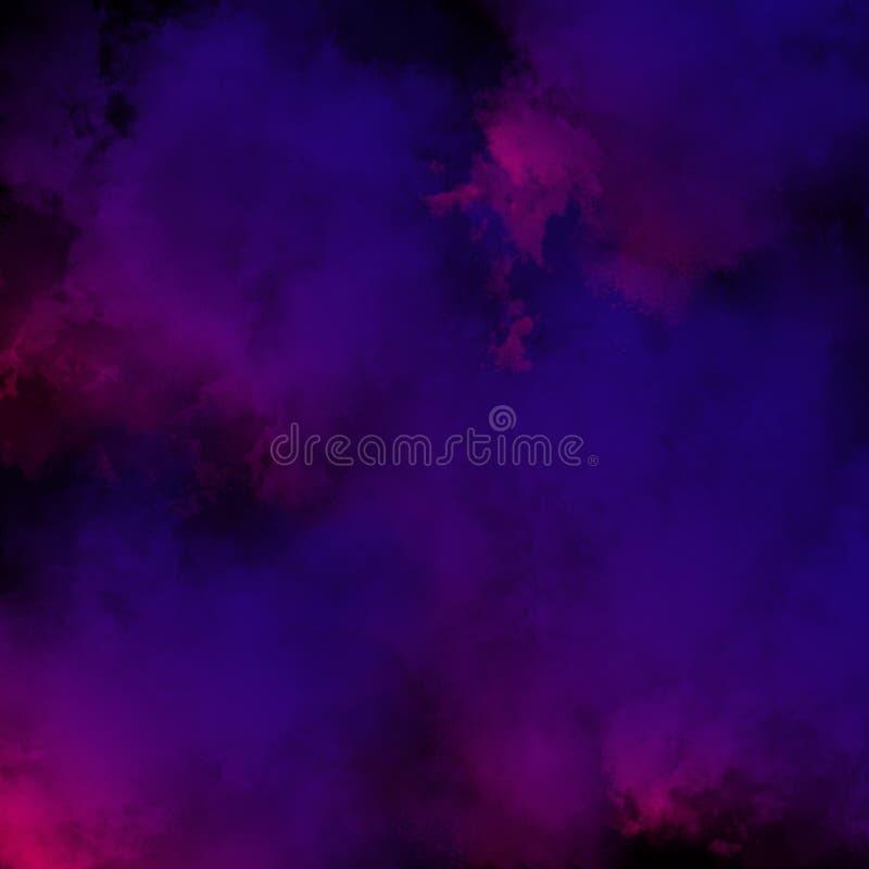 Kolorowy Prochowy tło, Kolorowe chmury fotografia stock