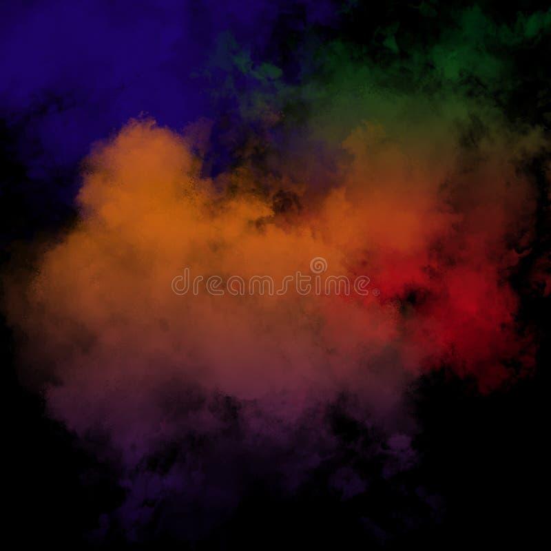 Kolorowy Prochowy tło, Kolorowe chmury zdjęcia stock