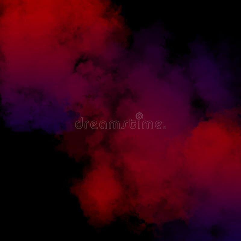 Kolorowy Prochowy tło, Kolorowe chmury fotografia royalty free