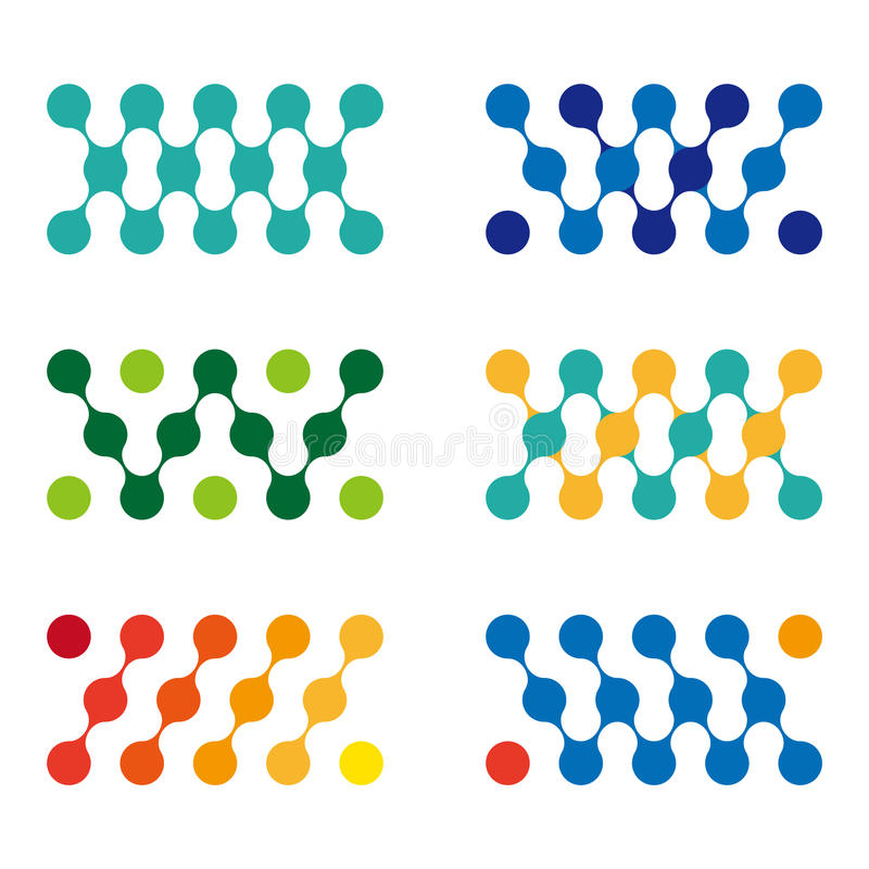 Kolorowy projekt molekuły loga element. ilustracja wektor