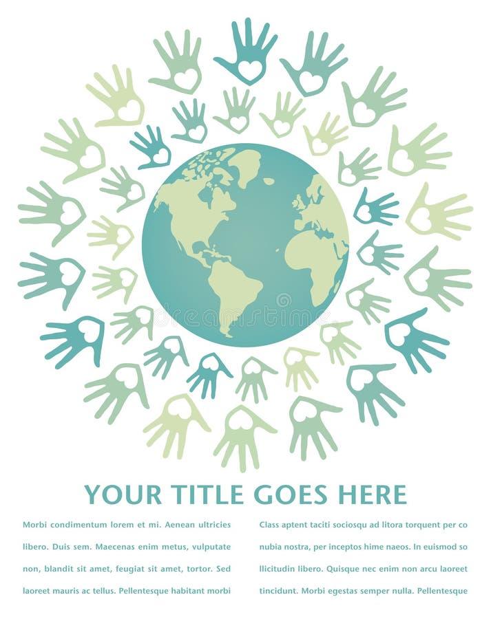 kolorowy projekta pokoju jedności świat ilustracji