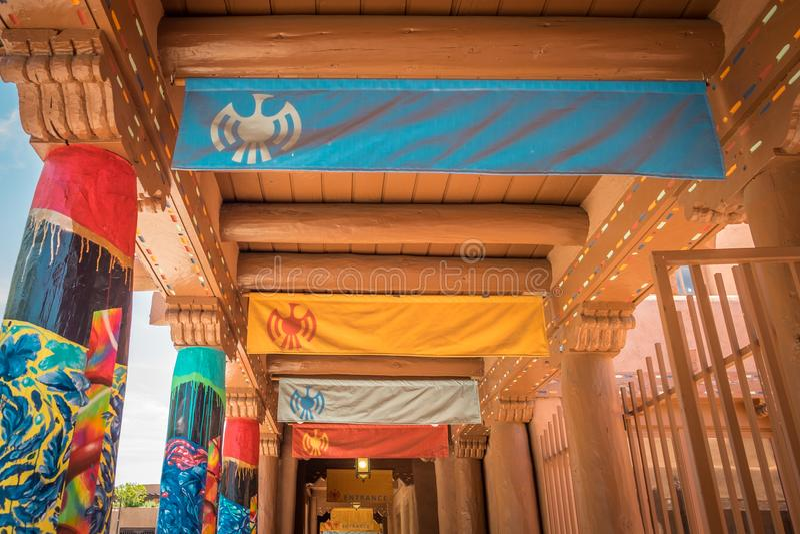 Kolorowy przejście w Santa Fe Nowym - Mexico zdjęcia royalty free