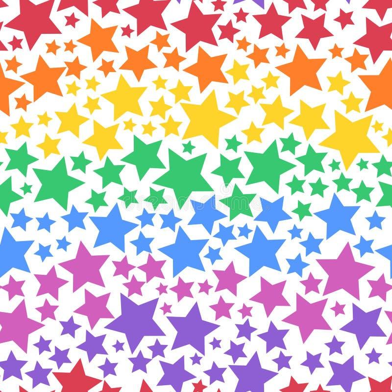 Kolorowy Przejrzysty Bezszwowy Gwiazdowy tło royalty ilustracja