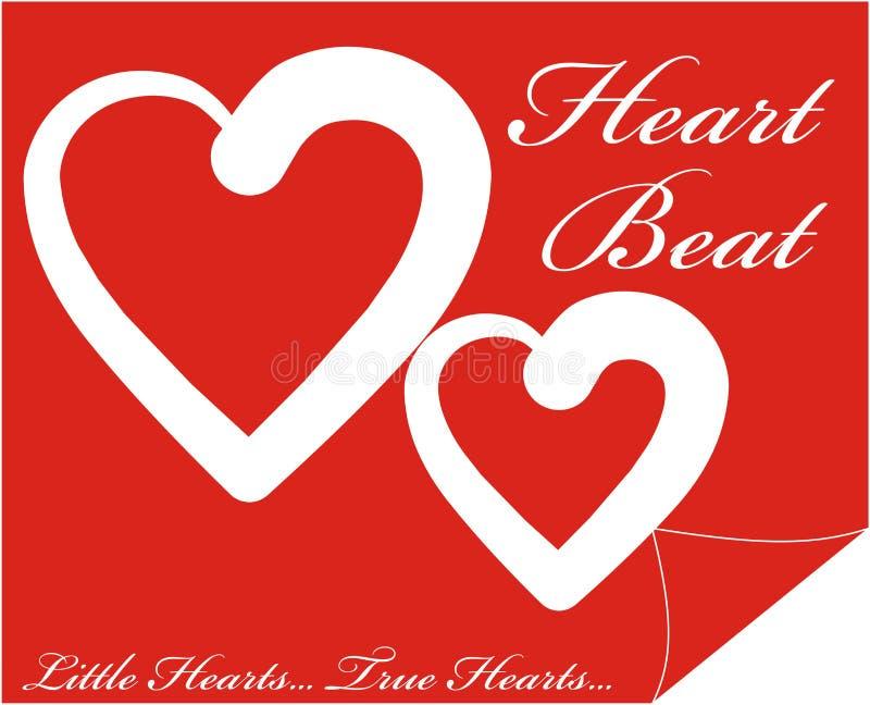 Kolorowy przycisk internetowy kształtu z tekstem Heart Beat inside ilustracja ilustracja wektor