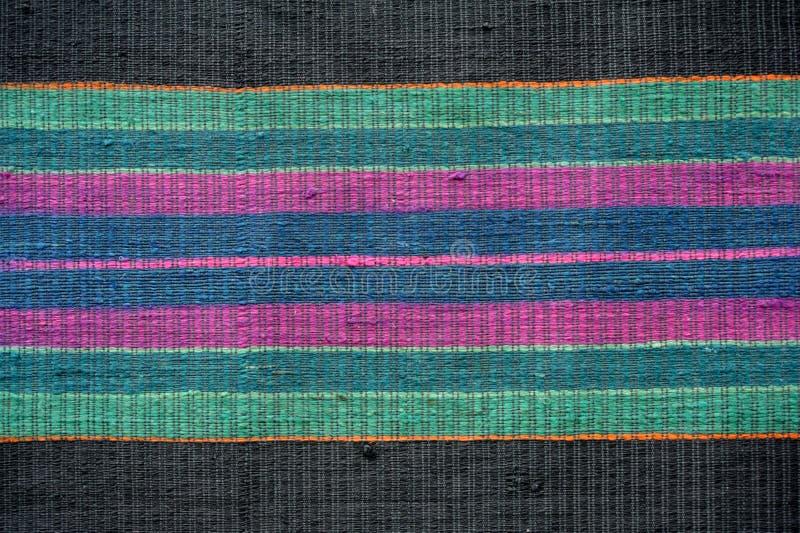 Kolorowy ręcznie robiony pstrobarwny dywanik lub dywan obrazy stock