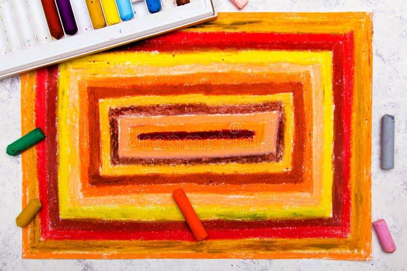 Kolorowy ręka rysunek: pomarańczowi prostokąty obraz royalty free