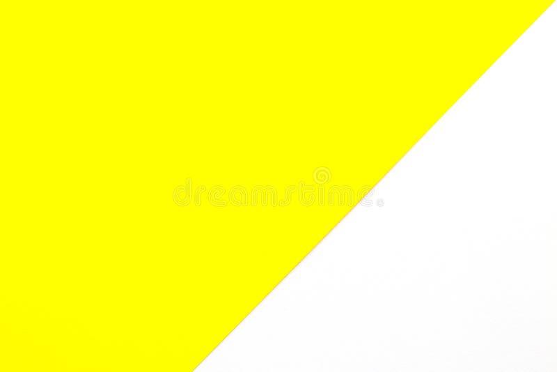 Kolorowy rama papieru bielu i koloru żółtego abstrakta tło obrazy stock