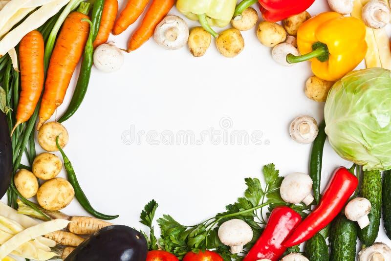 kolorowy ramowy warzywo obrazy royalty free