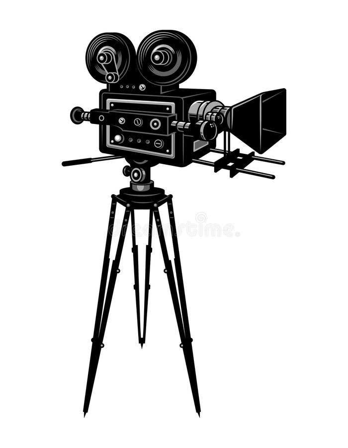 Kolorowy retro kinowy film kamery szablon royalty ilustracja
