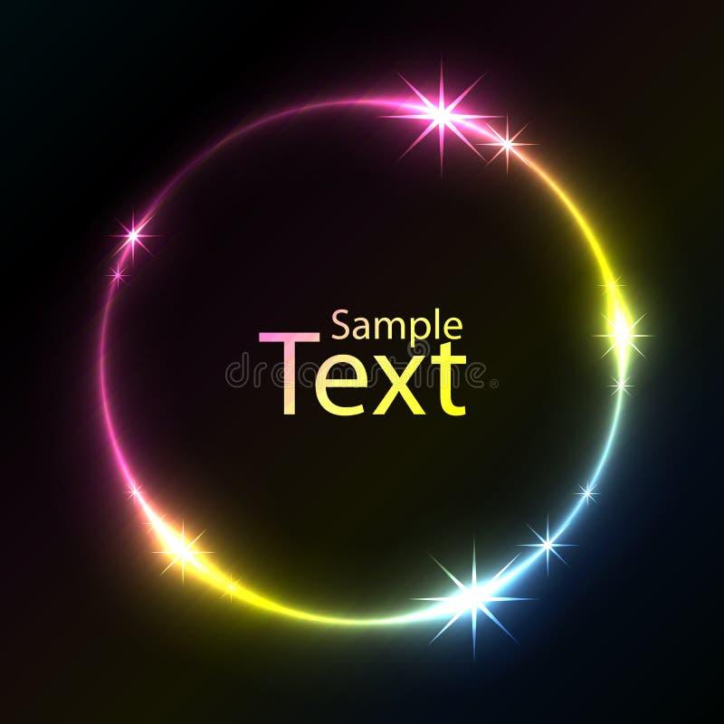 Kolorowy rozjarzony okrąg ilustracja wektor