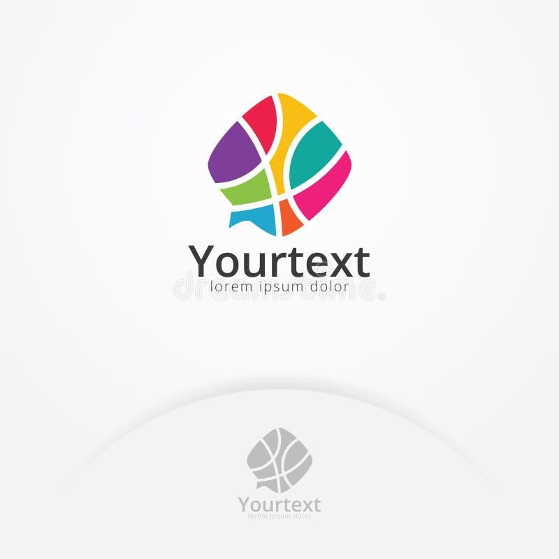 Kolorowy rozmowa logo projekt ilustracji