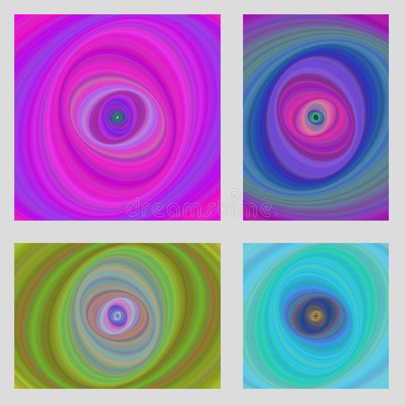 Kolorowy ruchu projekta broszurki tła set ilustracji