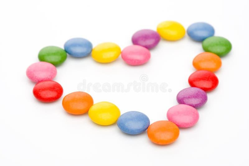 kolorowy słodyczami serce obrazy royalty free