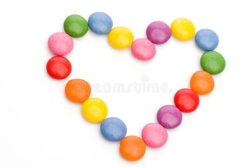 kolorowy słodyczami serce obraz royalty free