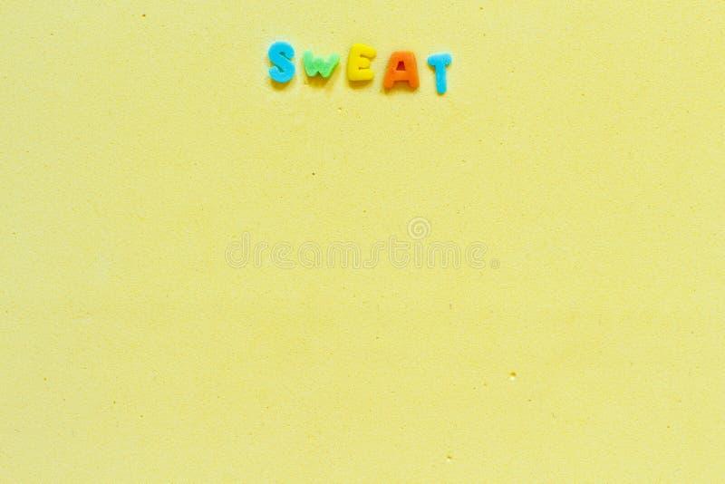 Kolorowy słowo cukierki zdjęcie royalty free